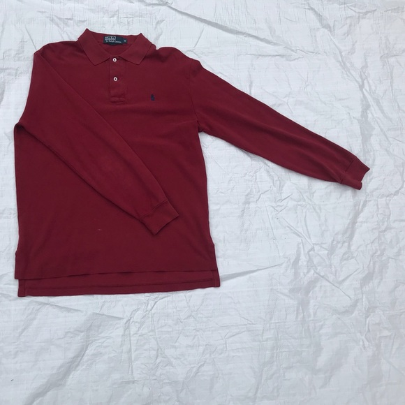 49b6d3fa578 Polo by Ralph Lauren Shirts | Ralph Lauren Burgundy Authentic Rugby ...